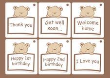 Prezent karty z niedźwiedziami Obrazy Stock