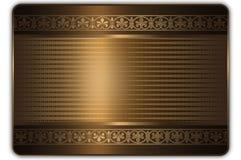Prezent lub kredytowej karty szablon Zdjęcia Stock