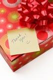 prezent notatka dziękować ty Zdjęcia Stock