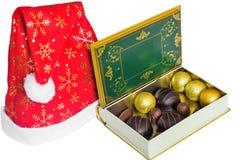 Prezent od Święty Mikołaj dla bożych narodzeń Obraz Royalty Free
