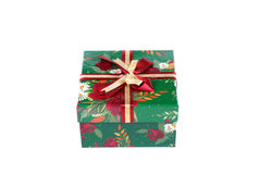 prezent piękna pudełkowata zieleń Obrazy Stock