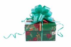 prezent piękna pudełkowata zieleń zdjęcia stock