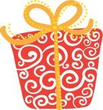 prezent pudełkowata czerwień Fotografia Royalty Free