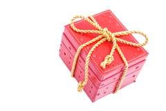 prezent pudełkowata czerwień Fotografia Stock