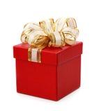 prezent pudełkowata czerwień Obrazy Royalty Free