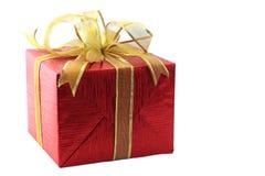 prezent pudełkowata czerwień zdjęcie royalty free