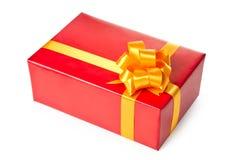 prezent pudełkowata czerwień Zdjęcie Stock