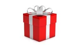 prezent pudełkowata czerwień jeden Zdjęcia Royalty Free