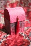 prezent pudełkowata czerwony mała obrazy stock