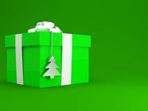 prezent pudełkowata zieleń Fotografia Stock