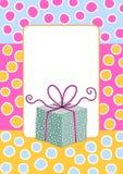 Prezent Pudełkowatej ramy Urodzinowa karta ilustracji