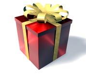 prezent pudełkowata czerwone. royalty ilustracja