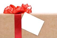 prezent pudełkowata etykietka Obrazy Stock
