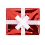 prezent pudełkowata czerwień Zdjęcia Royalty Free