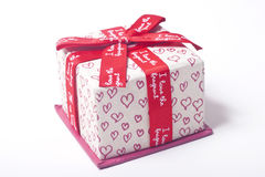 prezent pudełkowata miłość Obrazy Royalty Free