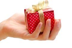 prezent ręka obraz royalty free