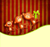 prezent rodzinne małpy Fotografia Royalty Free