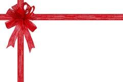 prezent tasiemkowy dziobu tło białe Zdjęcia Royalty Free