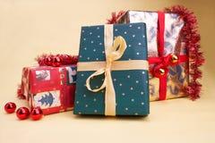 prezent weihnachtspakete świąteczne fotografia stock