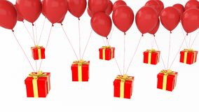 Prezent z wiele ballons Obraz Royalty Free