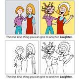 prezenta śmiech ilustracja wektor