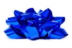 Prezenta błękitny łęk Obrazy Stock
