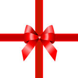 prezenta czerwieni faborek Obrazy Royalty Free