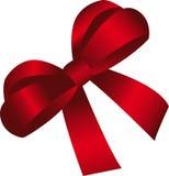 prezenta czerwieni faborek Zdjęcia Royalty Free