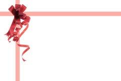 prezenta czerwieni faborki Zdjęcia Royalty Free
