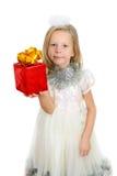 prezenta dziewczyny ręki odosobniony biel Zdjęcie Royalty Free