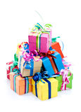 Prezenta kolorowy pudełko zdjęcie royalty free