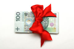 prezenta pieniądze Zdjęcie Stock