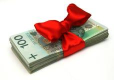 prezenta pieniądze Obrazy Stock