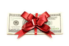 prezenta pieniądze Zdjęcia Stock