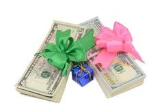 Prezenta pieniądze Obrazy Royalty Free