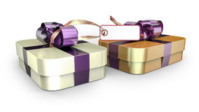 Prezenta pudełka łęku zawijająca tasiemkowa dekoracja Obraz Royalty Free