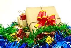 Prezenta pudełka rocznik dla święto bożęgo narodzenia Obraz Stock