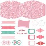 Prezenta pudełka szablonu przyjęcia set Fotografia Stock