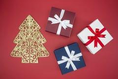 Prezenta pudełko dla święto bożęgo narodzenia sprzedaży i zakupy drugiego dnia świąt bożego narodzenia Fotografia Stock