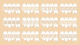 Prezenta pudełko dla bożych narodzeń, set ilustracja Obraz Royalty Free