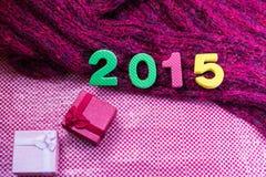 2015 prezenta pudełko dla tła Zdjęcie Stock