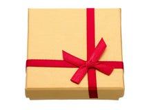 Prezenta pudełko odizolowywający na bielu Zdjęcia Royalty Free