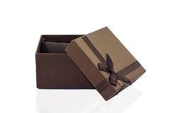 Prezenta pudełko utrzymywał uczucie Zdjęcia Royalty Free