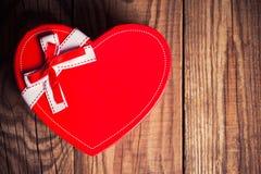 Prezenta pudełko w postaci serca obraz stock