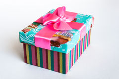 Prezenta pudełko z łękiem Obraz Royalty Free