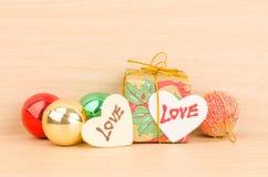 Prezenta pudełko z miłością Obrazy Stock