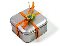 prezenta pudełkowaty metal Zdjęcie Stock