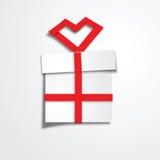 Prezenta pudełka czerwieni faborek Zdjęcie Stock