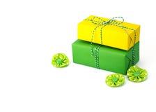Prezenta pudełka jaskrawy kolor Zdjęcie Stock