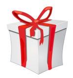 Prezenta pudełko z czerwonym faborkiem Obrazy Royalty Free